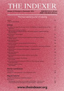 The Indexer: The International Journal of Indexing