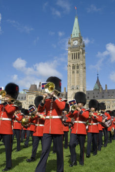 Ceremonial Guard Band on Parliament Hill